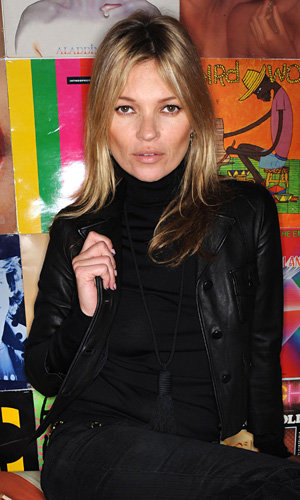 Kate Moss shows off her nail art at Rimmel London launch