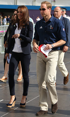 Kate Middleton and Prince William cheer on Team GB