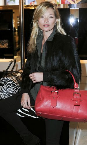 PICS: Kate Moss launches bags for Longchamp at Selfridges