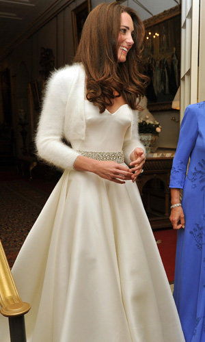 Kate Middleton wears her second McQueen dress to reception