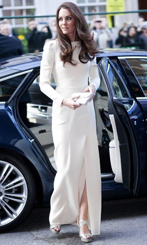 SEE PICS: Kate Middleton wows in a Roland Mouret dress!