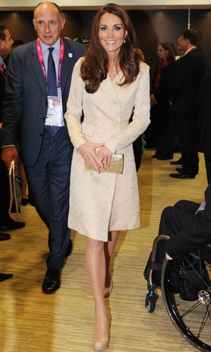Kate Middleton wears DAY Birger et Mikkelsen at the Paralympics Opening Ceremony