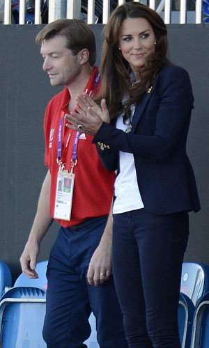 Kate Middleton watches Team GB at the hockey!