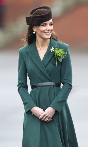 SEE PICS: Kate Middleton in Emilia Wickstead on St. Patrick's Day!