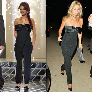 STYLE SNAP: Kate Moss and Cheryl Cole in Azzaro jumpsuit