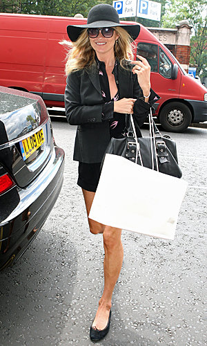 Kate Moss heads to Manolo Blahnik for some pre-wedding shopping