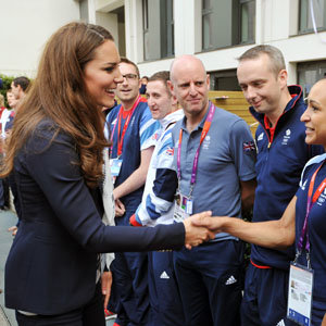 Kate Middleton meets Olympic athletes!