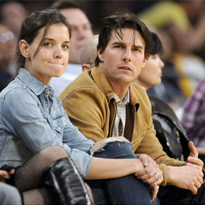 PICS: Tom Cruise and Katie Holmes' basketball style