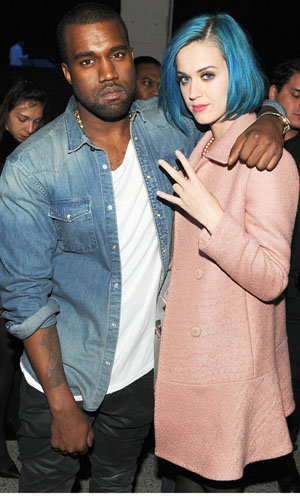 Katy Perry and Alicia Keys hit Kanye West's fashion show party!