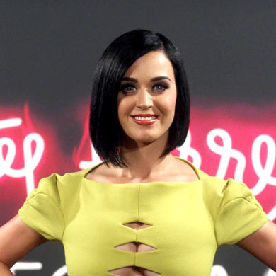 Katy Perry sports a new hairstyle on the red carpet