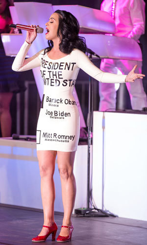 Katy Perry shows her support for Barack Obama