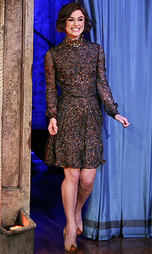 Keira Knightley goes flirty in Valentino's feather print