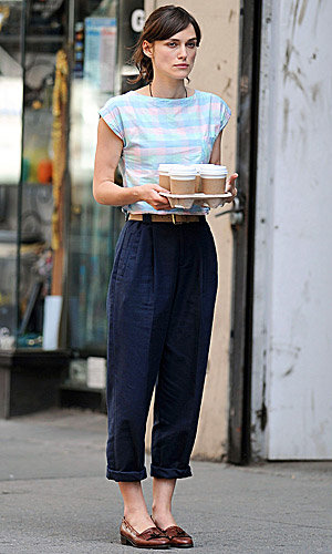 SEE PICS: Keira Knightley on set in New York City!