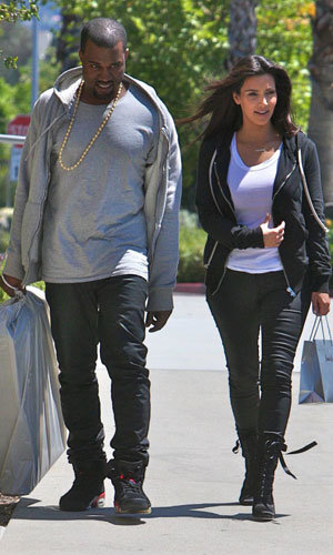 Kim Kardashian and Kanye West's laidback couple's style