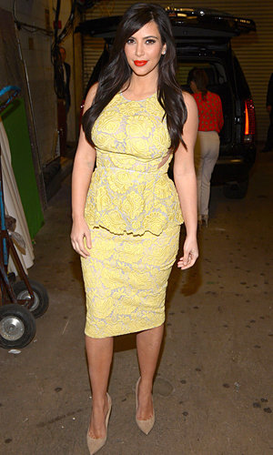 Pregnant Kim Kardashian works two stunning looks in one day