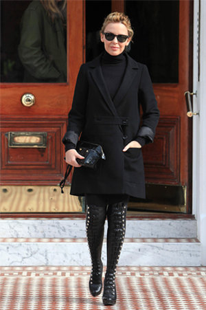 Kylie Minogue steps out in Christian Louboutin's hot OTK boots