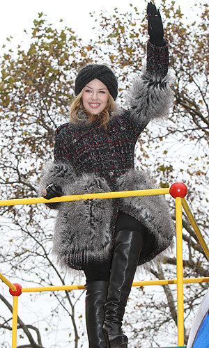 Kylie Minogue and Kanye West hit Manhattan for Macy's Thanksgiving Day Parade