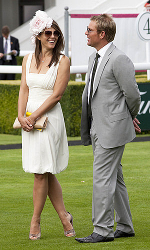 SEE PICS Liz Hurley has a day at the races at Glorious Goodwood!