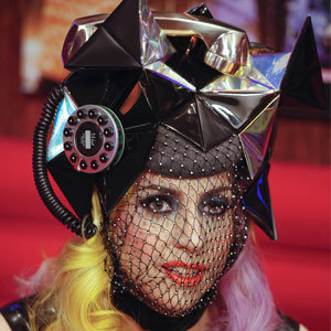 PICS: Lady GaGa wears telephone hat on Jonathan Ross