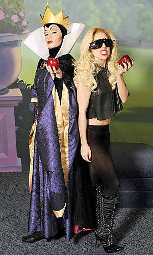 Lady Gaga strikes a pose with Disney's Evil Queen