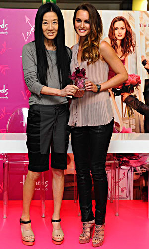 Leighton Meester debuts Vera Wang's new perfume in Harrods