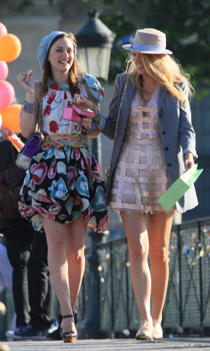 SNEAK PEEK: Leighton Meester and Blake Lively film season four of Gossip Girl in Paris