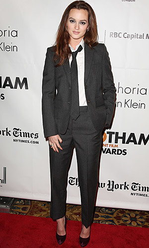 Leighton Meester does tomboy chic at the Gotham Independent Film Awards