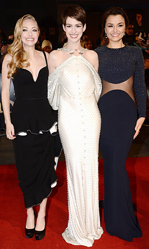 Anne Hathaway and Amanda Seyfried wow at Les Miserables London premiere