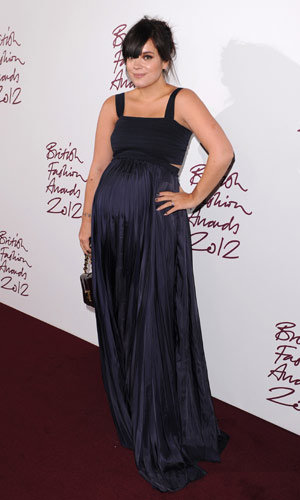 Lily Allen shows off her pregnancy style at British Fashion Awards 2012
