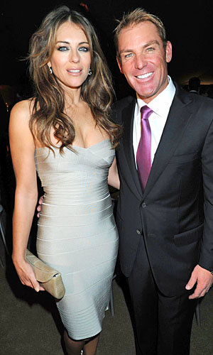 Congrats: Elizabeth Hurley and Shane Warne get engaged!