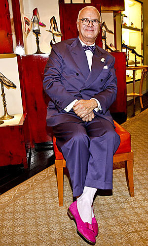 Manolo Blahnik at Manolo's New Shoes book signing!
