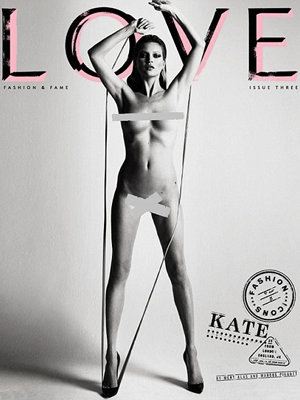 Kate Moss and Naomi Campbell bare all on this month's cover of Love magazine