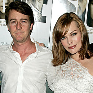 Milla's loving lace at the Stone premiere