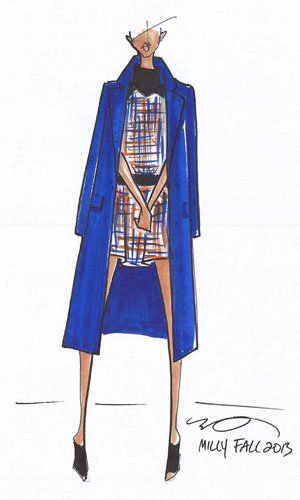 Fashion week latest: Milly reveals sketches from AW13 show