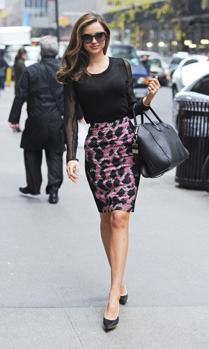 Miranda Kerr rocks four amazing outfits in one day!