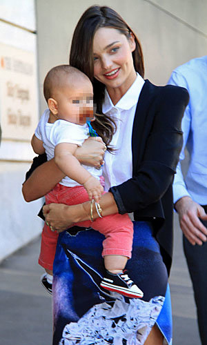 Miranda Kerr's baby Flynn gets a comic book-cute tee