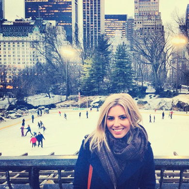 Mollie King takes a break in New York