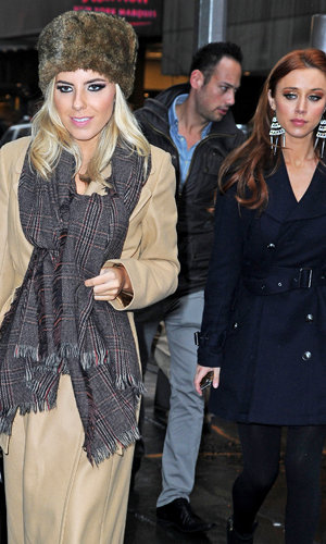The Saturdays style up their winter coats in New York