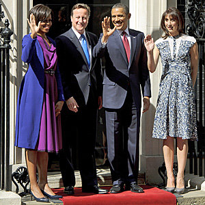 Michelle Obama and Samantha Cameron in First Lady style off