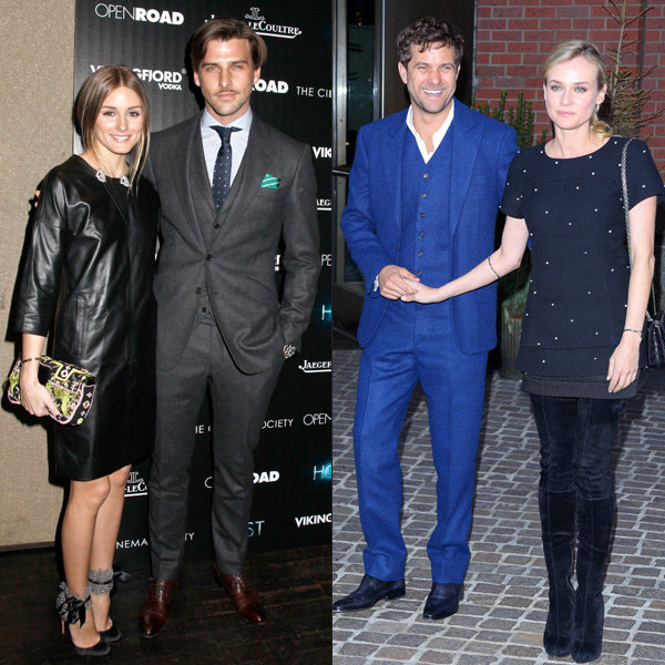 Olivia Palermo and Diane Kruger style up couples' night out
