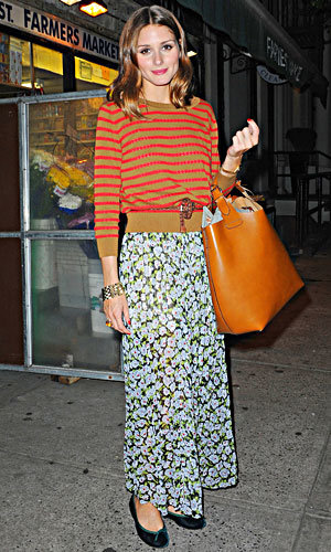 FASHION HOW-TO! Olivia Palermo works clashing prints!