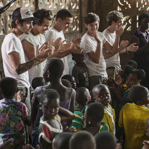 One Direction travel to Ghana for Red Nose Day