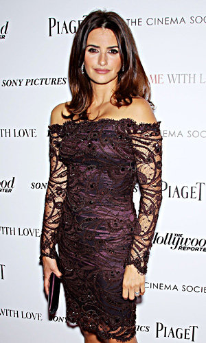 Penelope Cruz works head-to-toe purple on the red carpet