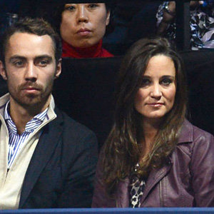 Pippa Middleton sits courtside at ATP World Tour Tennis Finals