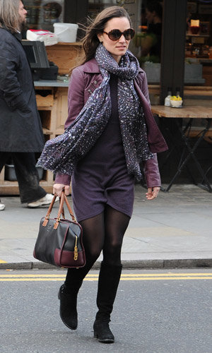 Pippa Middleton hits up the high street for latest winter look