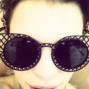 Pixie Geldof tweets snaps of her new House of Holland sunglasses!