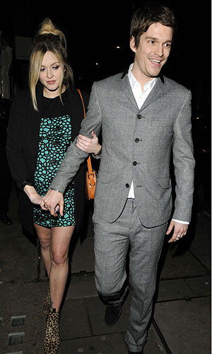 Pregnant Fearne Cotton shows off her bump on night out in London