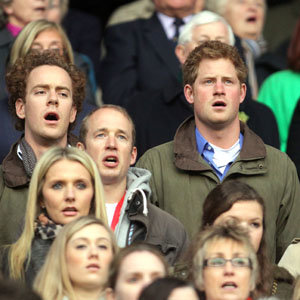 Prince Harry enjoys Six Nations rugby game!