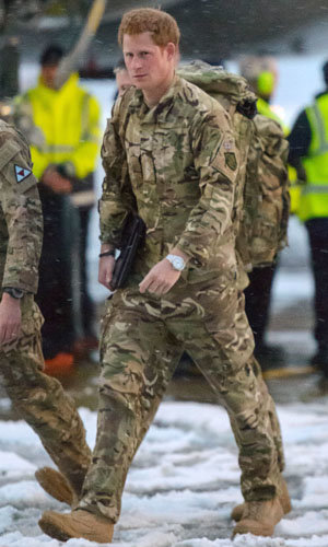 Prince Harry returns from his tour of duty
