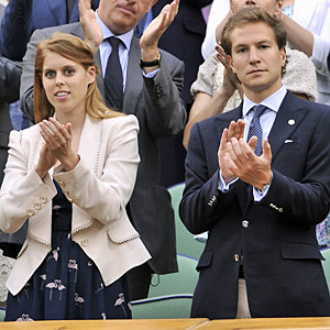 Princess Beatrice hits the Wimbledon Royal Box
